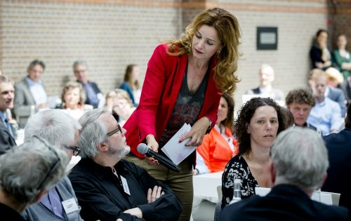 Laheij in gesprek met het publiek